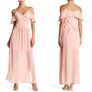 NEW Lumier Bariano Blush Pink Cold Shoulder Dress